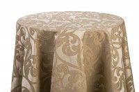 Taupe/Gold Damask Linens - variety of sizes available
