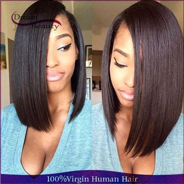 Brazilian Virgin Human Hair Full Lace Wig Straight Lace Front Wig Short Bob  Hair Glueless Full Lace Wig Wavy For Black Women  WeaveHairstylesCurly 2a14e65c4f