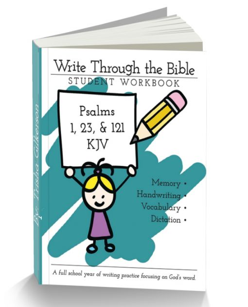 Psalms 1, 23, and 121 KJV Handwriting Workbooks - Intoxicated on Life Store