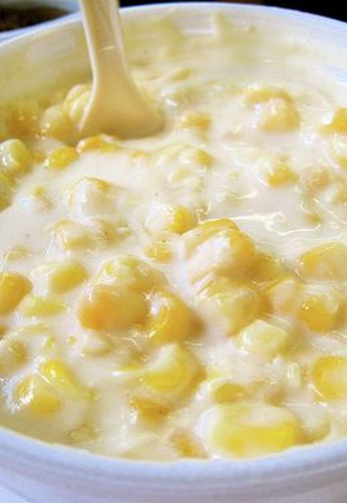 Homemade Cream Corn. It's heavenly, fattening, and even more heavenly. You WILL want seconds!