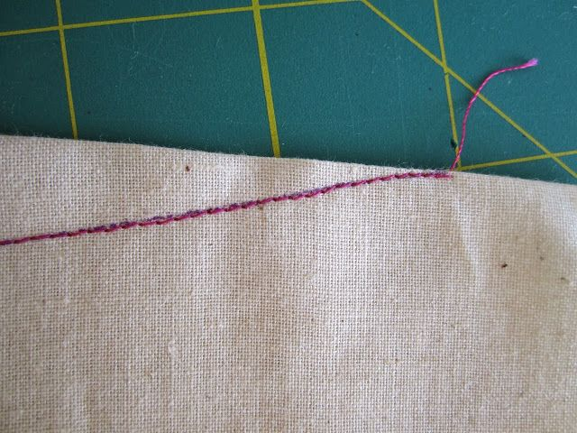 a better way to sew bust darts--a few threads loose