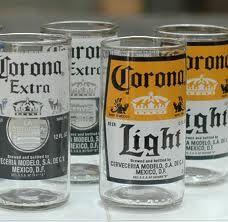 bottles into glasses... i like