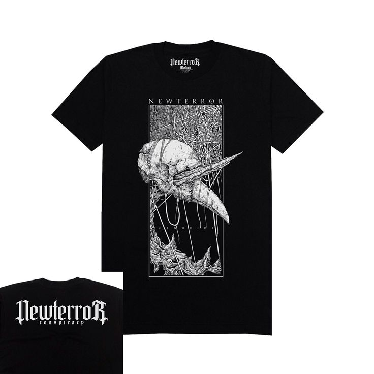 Newterror Conspiracy T-Shirt GNCD-01 Material: Black Cotton Combed 30's Printing: White Plastisol Ink Available size: M, L, XL IDR 120.000 (Exclude shipping cost) . www.newterrorconspiracy.com . #genocide #newterror #newterrorconspiracy