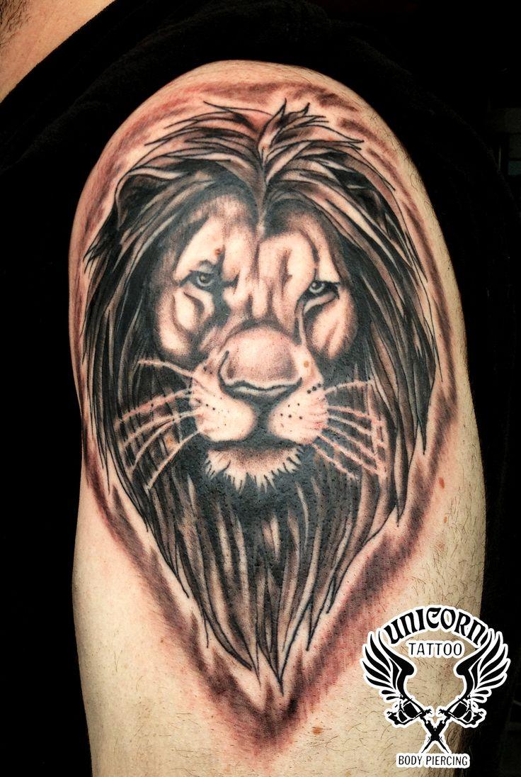lion tattoo by billcmf traditional art body art body modification ...