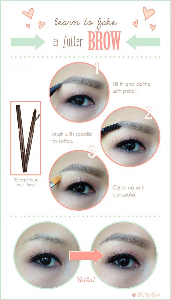 39 Awesome korean eyebrow tutorial