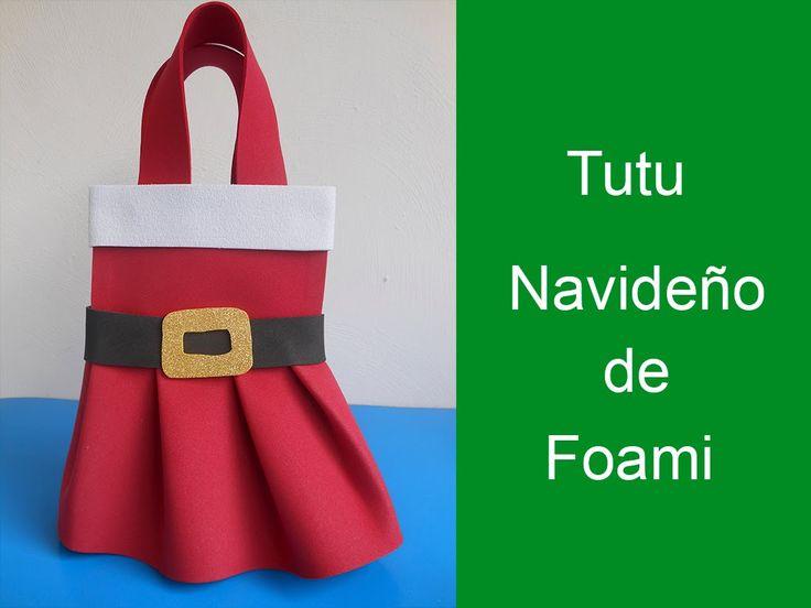 Dulcero ó tutu de foami Navideño (Dulcero or Christmas tutu foami)