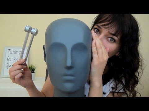 Binaural ASMR Tuning Forks Near Your Ears & Polish Whispering & High and Low Pitch - YouTube
