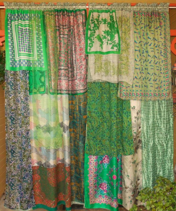 Awesome GREEN TARA Bohemian Gypsy Curtains By BabylonSisters On Etsy