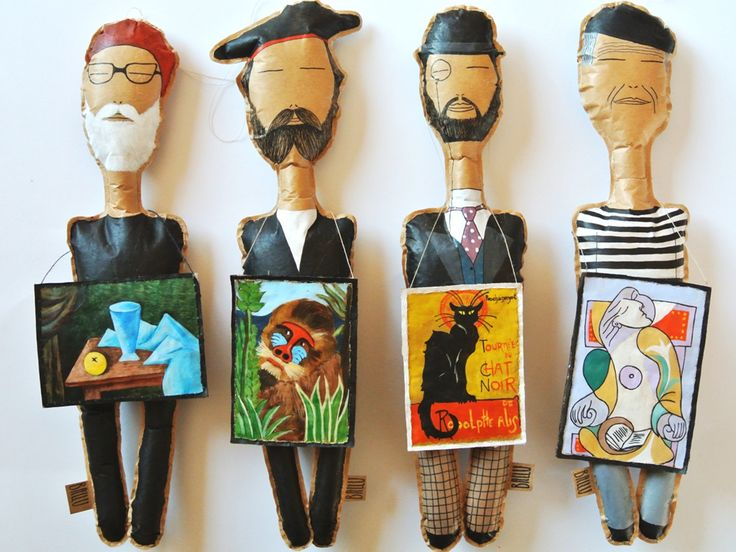 Paper dolls for decoration