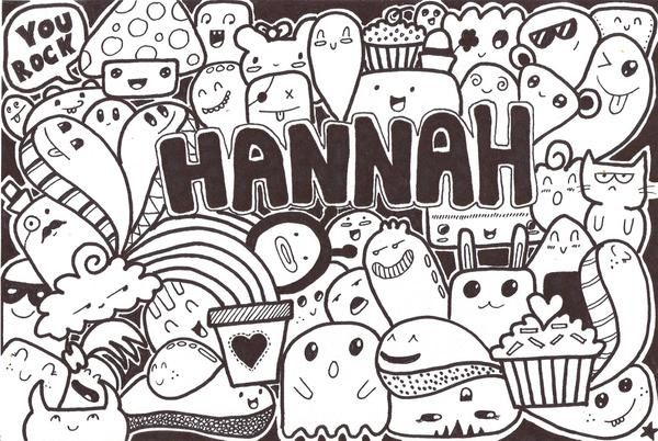Doodle Inspired By Pic Candle Gift For My Friend Hannah