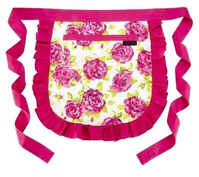 Blue Sky Housewares - RAGGED ROSE RETRO FRILLY WAIST HALF APRON COTTON PINK WHITE, £14.99 (http://www.blueskyhousewares.com/ragged-rose-retro-frilly-waist-half-apron-cotton-pink-white/)