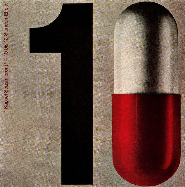 #numbers 1 capsule by Hans Schweiss, 1961.