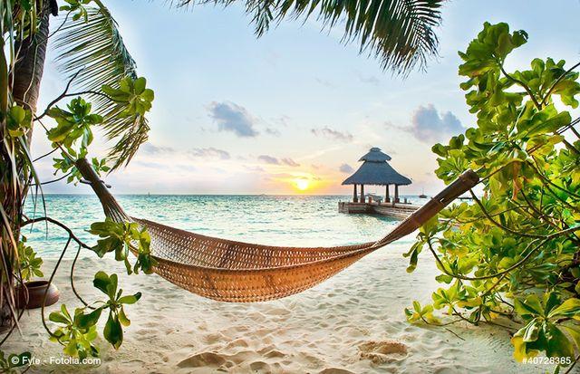Abhängen in der Hängematte im Paradies!  #bucherreisen #lastminute #paradies #malediven