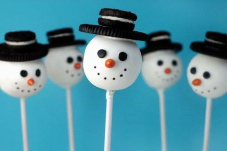 DIY Recipe - Snowman cake pops