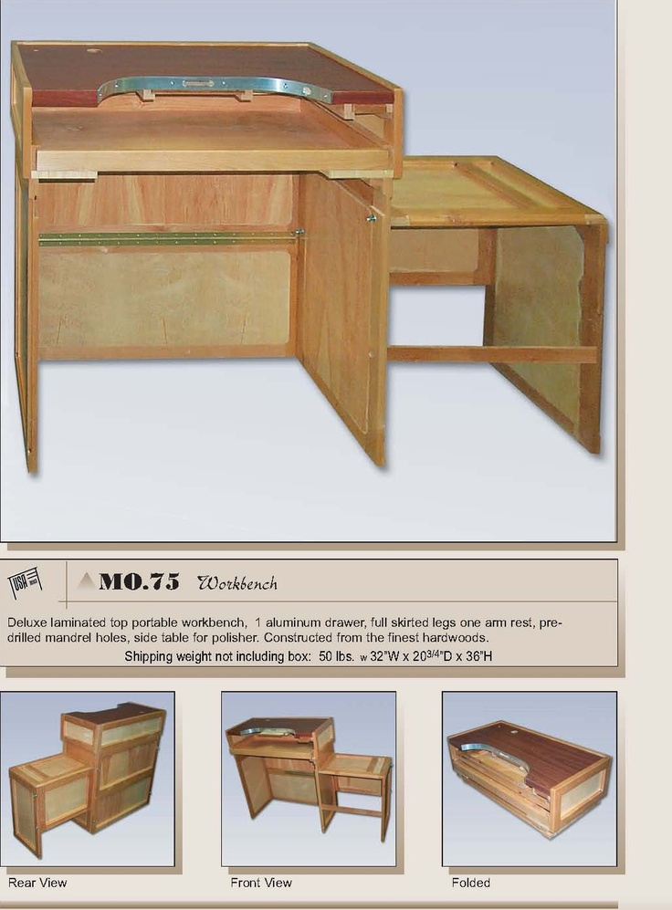 Workbench Is The Deluxe Laminated Top Portable Workbench. INCREDIBLE How It  ALL Folds Up! Includes One Armrest TOO:) Another Warhammer Workstation Or  ...