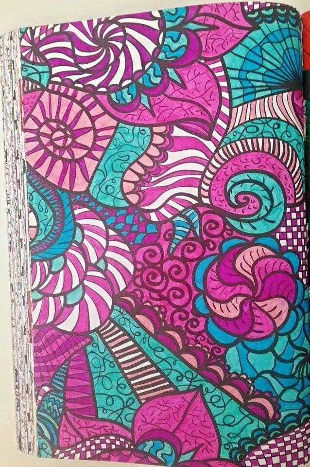 Kleurboek Voor Volwassenen Roze Blauw