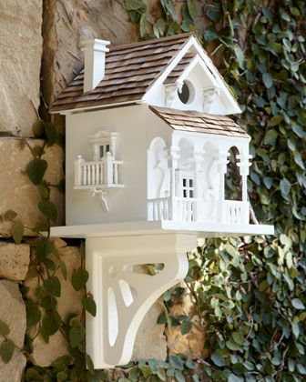 Charming Victorian birdhouse for the little twitter in all of us.  The birds have got to love this one!