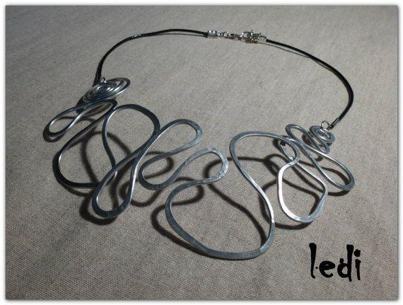 collana Amazzonia 2 filo alluminio cordoncino di di lediShirley