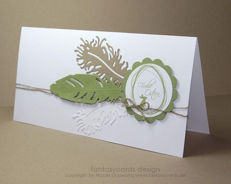 Osterkarte mit Federn von fantasycards Design - Schönes aus Papier auf DaWanda.com