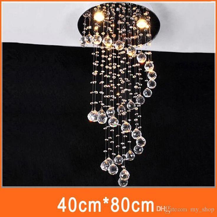 Das Moderne Europa Einfache Spira Led Linear Kristallleuchter Hängende  Lampen Schlafzimmer Wohnzimmer