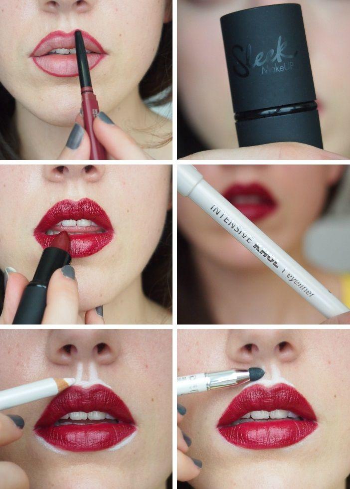 grössere Lippen schminken