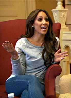 Real Housewives of NJ's Melissa Gorga Spotted in Stella & Dot I WANT THIS SWEATER