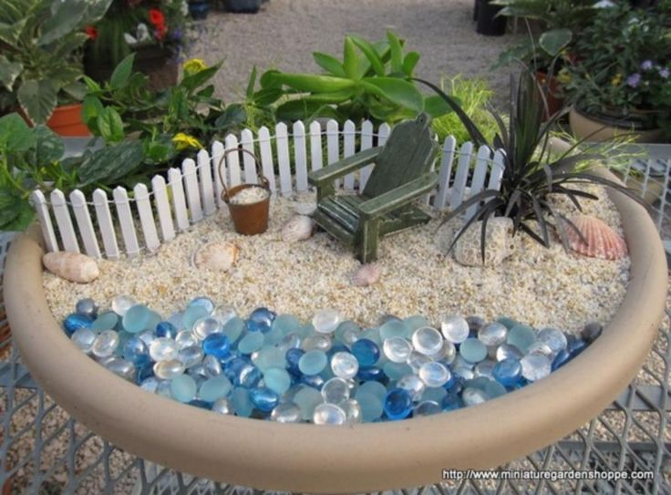 45 Best Gardening Ideas: Mermaid And Beach Themed Fairy Garden Part 60