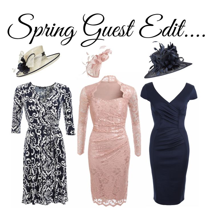 Spring Guest Edit!  Spring wedding, christening or a day at the races. The Guest Edit has some stunning affordable designs just for you <3 (hats shown are from John Lewis) https://www.justblue.com/wedding-guest-dresses.php #Wedding #Guest