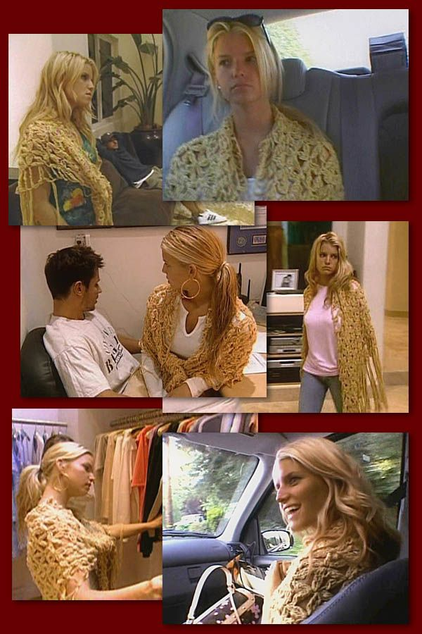 "Jessica Simpson from the ""Newlyweds"" wearing Cecilia De Bucourt Shawl   I was a big fan of the show and have wanted this shawl since I first saw it on her!"