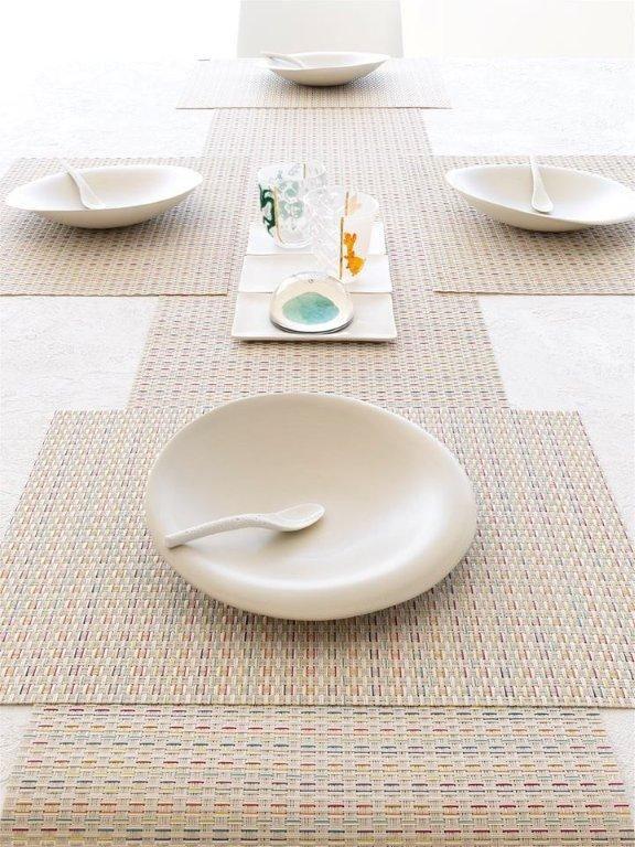 #artdelatable by #chilewich   #σουπλα #πετσέτεςφαγητού #πετσετοθήκες στο πιο #προχωρημένο #design   #newweave #wicker #aslanoglou #tabletop #sousplat #napkins #napkinrings #dining