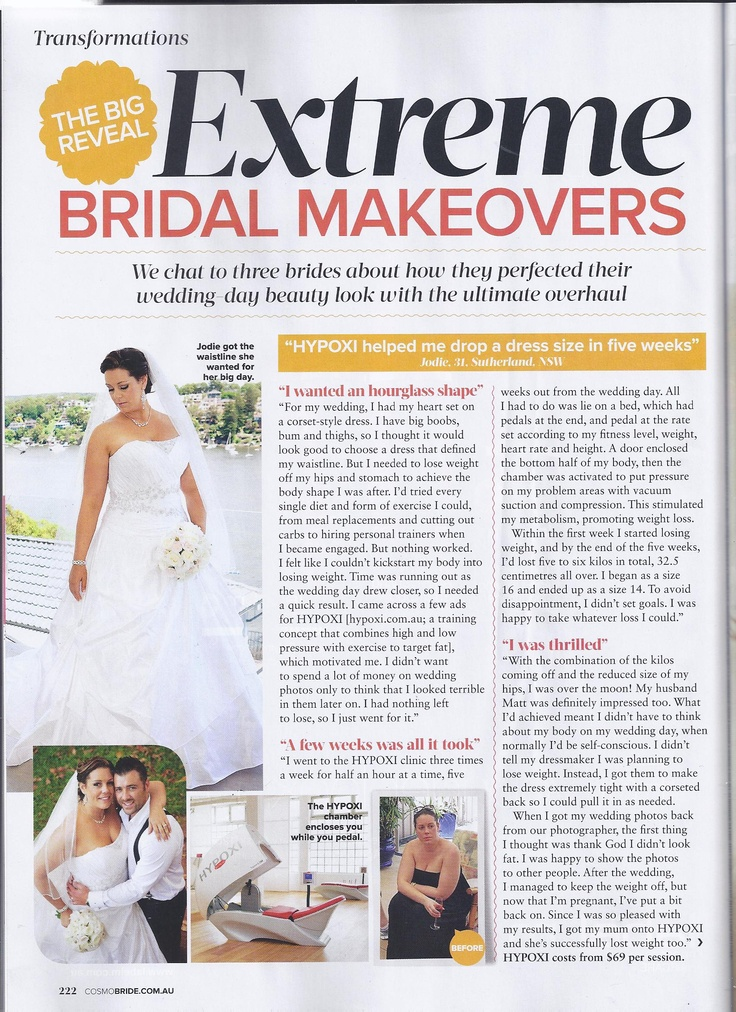 Featured in the Summer '13 edition of Cosmo Bride!