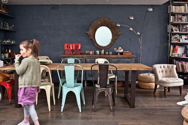 Eclectic dining, Parisian loft