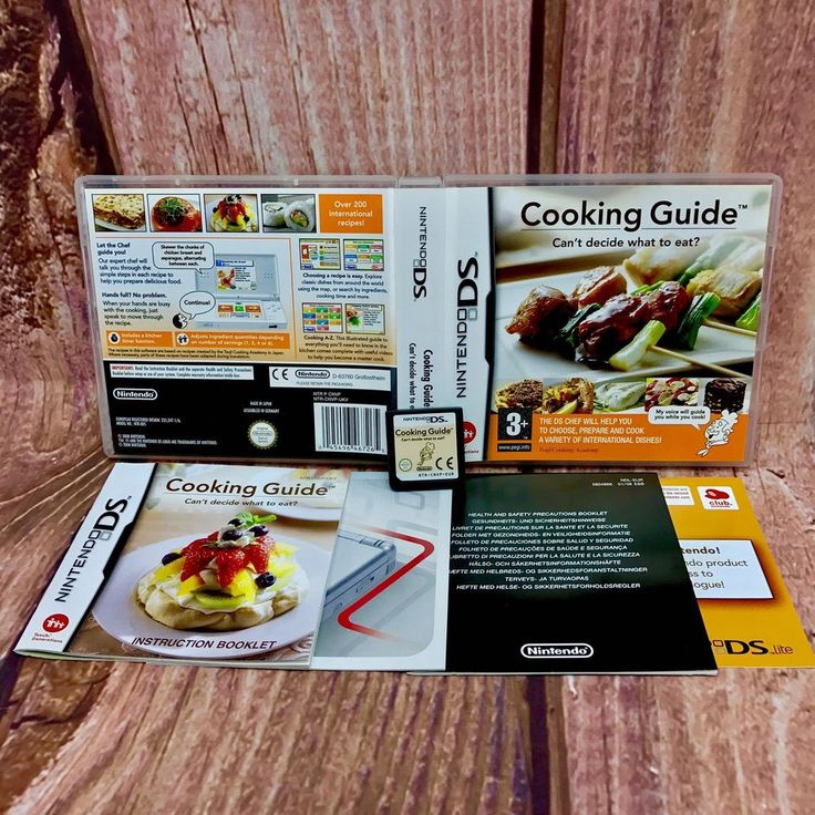 Cooking Guide Can't Decide What to Eat nintendo DS Dsi XL lite 2ds 3ds chef cook