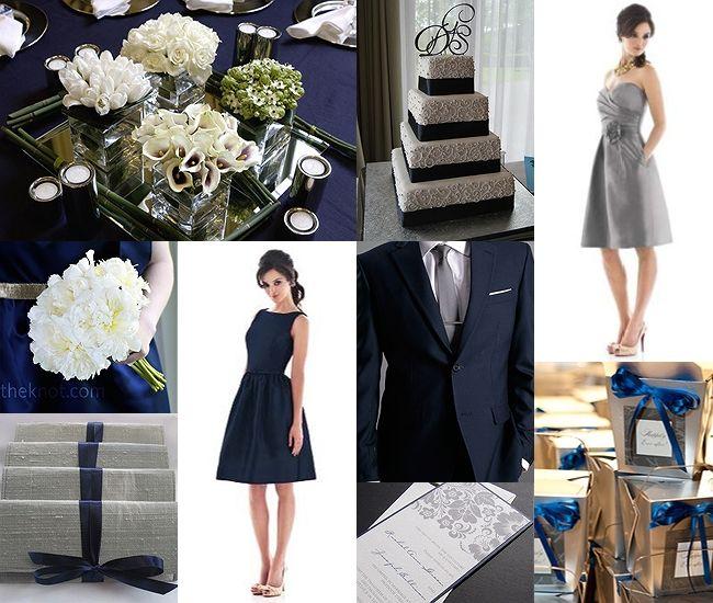 Platinum And Navy Blue Wedding Inspiration  Groom Sold Separately cakepins.com
