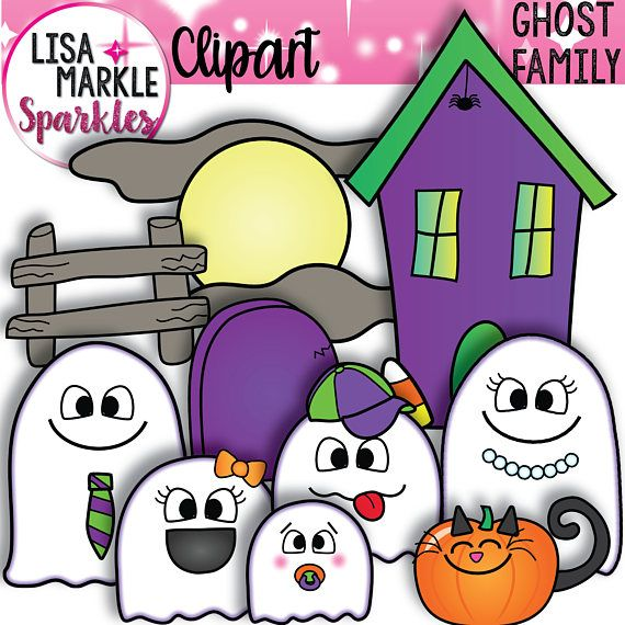 Halloween Clipart Ghost Clipart October Clipart Family