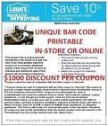 (5)-- LOWES 10% OFF COUPONS !!! FAST SHIPPING !!!EXPIRES 11/27/2014 - http://couponpinners.com/coupons/5-lowes-10-off-coupons-fast-shipping-expires-11272014/