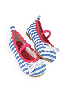 striped canvas ballerinas @ Pumpkin Patch