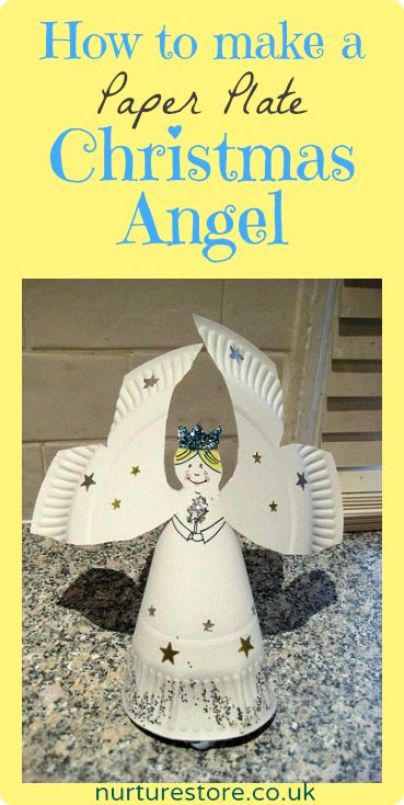 Paper plate Christmas angel - fun activity for the weekend before Christmas?