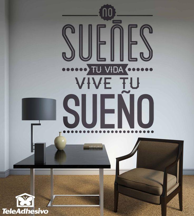 Este vinilo decorativo muestra una frase c lebre muy for Vinilos pared frases