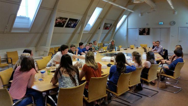 Terra Eelde op bezoek bij SP Fractie in Den Haag.