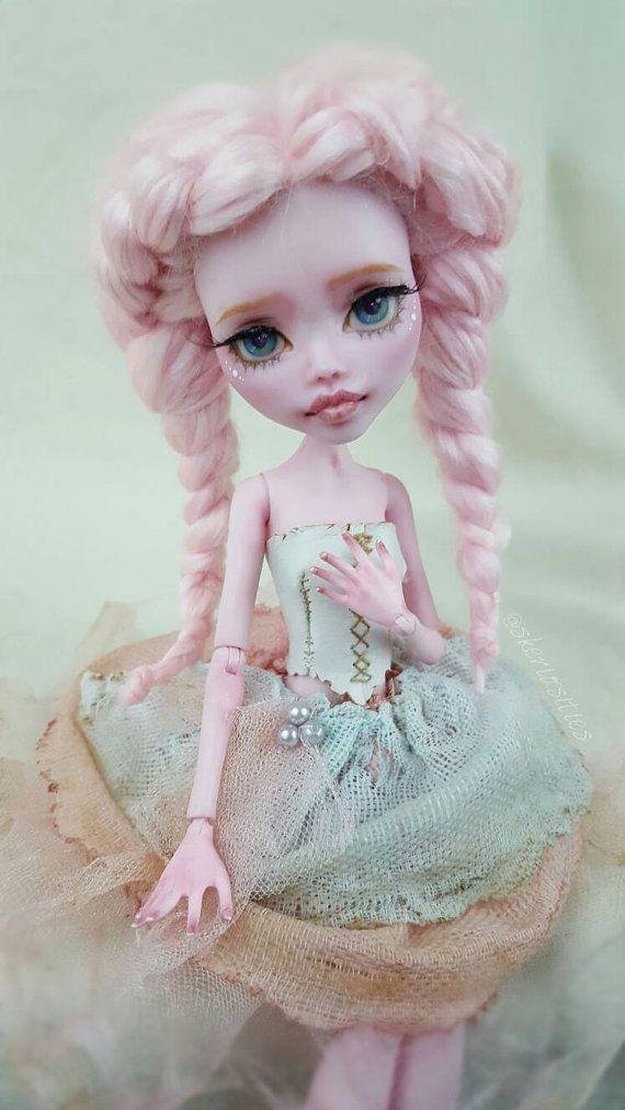 Custom OOAK Monster High Draculaura doll by Skeriosities Etsy listing at https://www.etsy.com/listing/450907288/custom-draculaura-repaint-monster-high