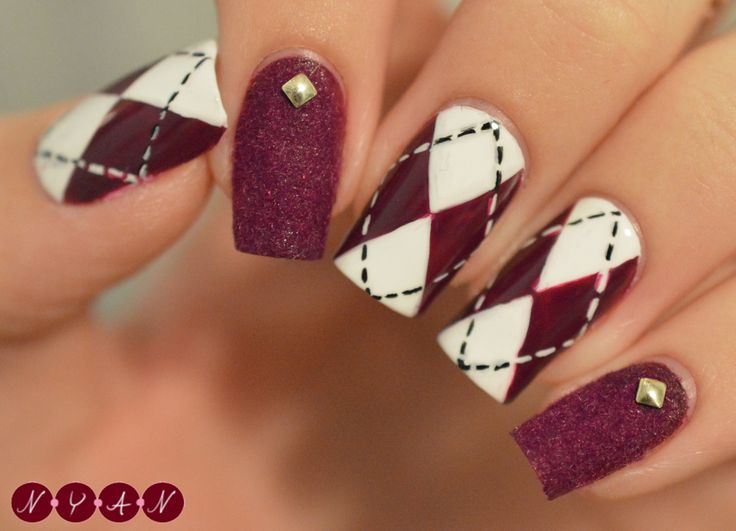 Best 25 plaid nail designs ideas on pinterest plaid nail art nerdy fleurty guest post from not your average nails plaid nails prinsesfo Choice Image