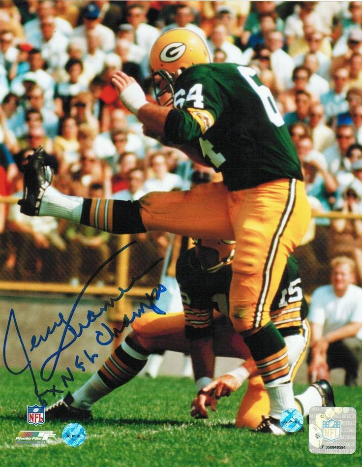 "Jerry Kramer Green Bay Packers Autographed 8x10 Photo Inscribed ""5X NFL Champ""."