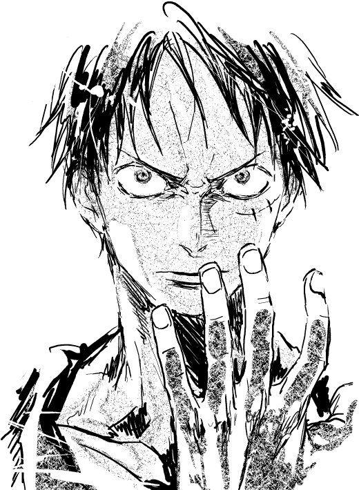 One Piece Monkey D. Luffy Drawing U2026 | Pinteresu2026