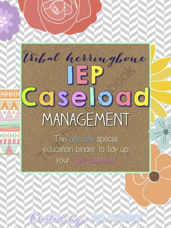 IEP Caseload Management  Tribal  - Ultimate IEP Special Education Binder from Mrs. D's Corner on TeachersNotebook.com -  (131 pages)  - Being a caseload manager and a teacher of children with special needs is a wonderful experience that, unfortunately, includes tons of special education jargon and paperwork that can sometimes become overwhelming. This binder is your key to tidying up your