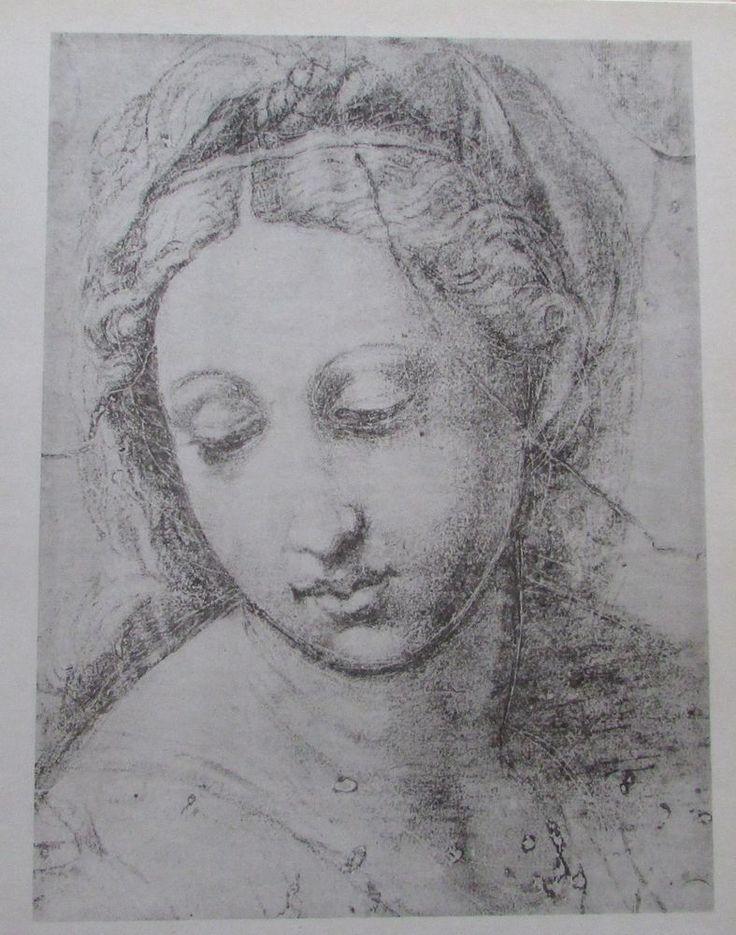 Raffael FRAUENKOPF Reproduktion alter Druck old print italienischer Maler