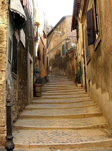 Streets of Tivoli, Italy