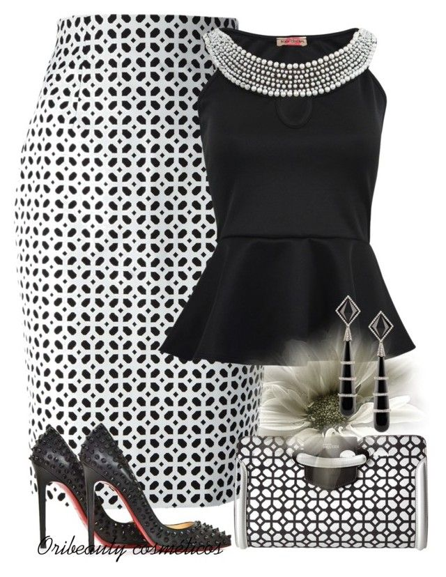 """Black & White"" by oribeauty-cosmeticos ❤ liked on Polyvore featuring beauty, Alexander McQueen, Christian Louboutin and Fred Leighton"
