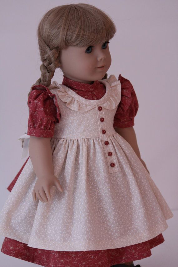 Prairie Dress for Kirsten or Other American Girl by BabiesArtUs, $55.00  {Love the apron/pinafore. It's to die for}