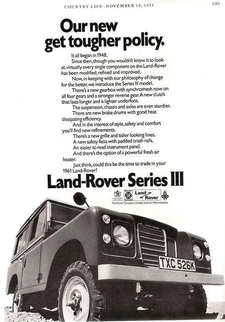 Our new get tougher policy.  Land-Rover Series III - ROVERHAUL.com, Land Rover Restorations & Pictures